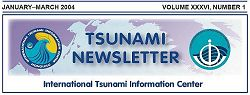 ITIC Tsunami Newsletter Jan-Mar 2004